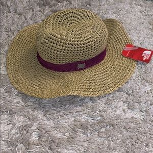 NWT The North Face Sun Straw Hat, Fuchsia Pink S/M